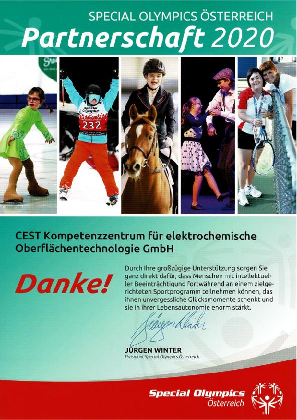 Partnerschaft Special Olympics CEST